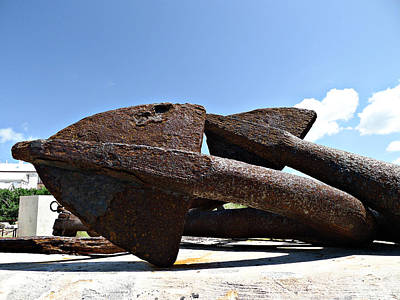 Photograph - Anchors At Rest by Richard Reeve