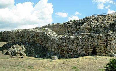 Photograph - Ancient Archeological Remains II In Mycenae Greece by John Shiron