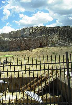 Photograph - Ancient Archeological Remains Iv In Mycenae Greece by John Shiron