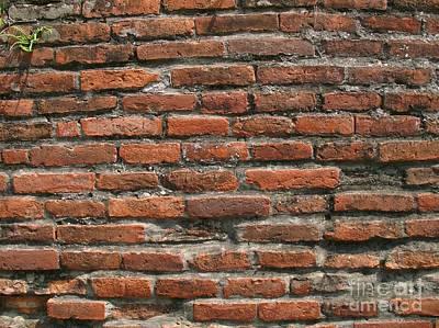 Ancient Brick Wall Art Print by Yali Shi