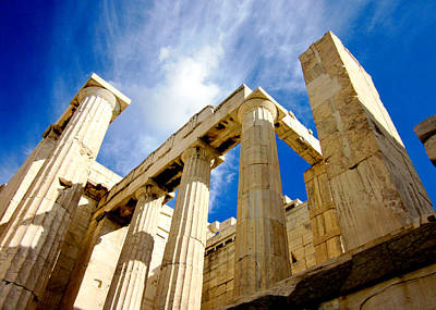 Photograph - Ancient Columns by Anthony Doudt