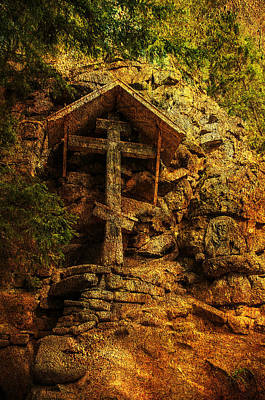 Photograph - Ancient Cross. Holy Island  by Jenny Rainbow