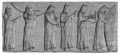 Ancient Egypt: Musicians Art Print by Granger