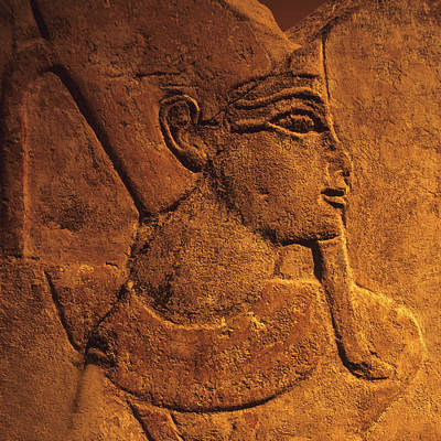 Y120907 Photograph - Ancient Egyptian Carving, Temple Of Luxor, Egypt by Hisham Ibrahim