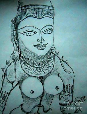 Drawing - Ancient Indian Sculpture by Hari Om Prakash
