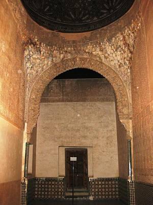 Photograph - Ancient Interior Design Tilework Granada Spain by John Shiron