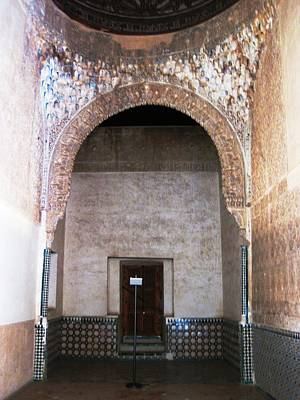 Photograph - Ancient Interior Design Tilework II Granada Spain by John Shiron