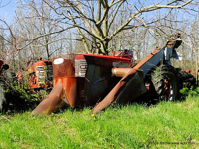 Mixed Media - Ancient International Harvester Tractors by Bruce Ritchie