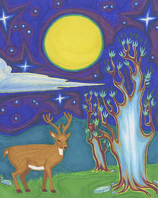 Gaia Drawing - Ancient Night by James Davidson