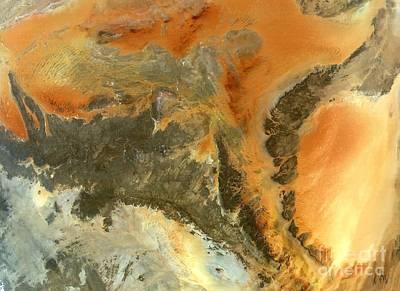 True Color Photograph - Ancient Saharan Rocks by NASA / Science Source