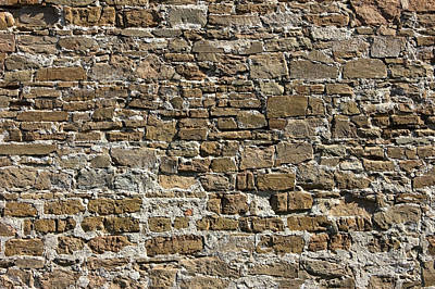 Ancient Stone Wall Background Art Print
