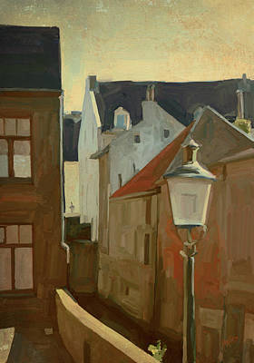 Painting - Ancient Street Along The Jeker by Nop Briex