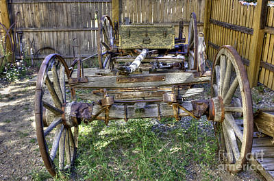 Photograph - Ancient Wagon Frame by David Bearden