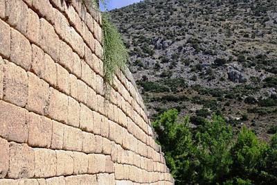 Photograph - Ancient Wall Leading To Citadel And Treasury Of Atreus Tomb Of Agamemnon Royal Tombs Mycenae Greece by John Shiron