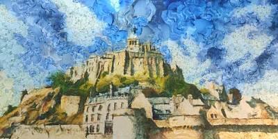 Ancora Mont St. Michel Art Print