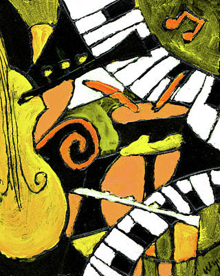 And All That Jazz Orange Art Print by Wayne Potrafka
