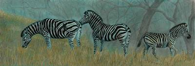 And Baby Makes Three Art Print by Linda Harrison-parsons