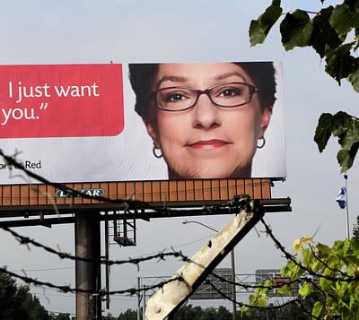 Photograph - And The Billboard Wants Botox. by Richard Barone