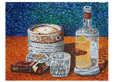 Mak Art Painting - And The Bottle Has Finished by Muhammad Arshad Khan MAK