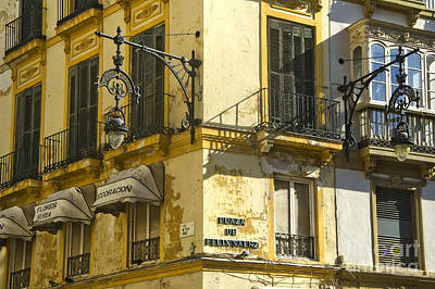Andalusian Spanish Facade Art Print by Perry Van Munster