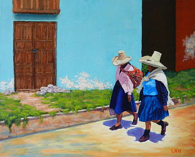 Andean Ladies, Peru Impression Art Print