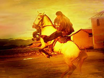Andean Rearing Horse-cuzco Caballero IIi Art Print
