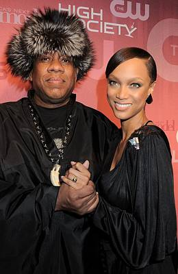 Tyra Photograph - Andre Leon Talley, Tyra Banks by Everett