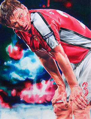 Soccer Drawing - Andrei by Janine Hoffman