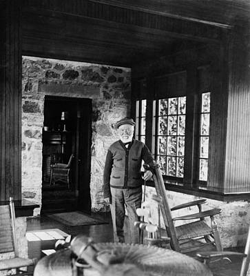Andrew Carnegie In His Golf Cottage Print by Everett