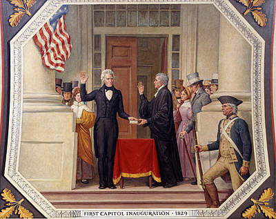 Swearing In Photograph - Andrew Jackson At The First Capitol Inauguration - C 1829 by International  Images