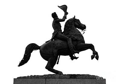 Jackson Square Digital Art - Andrew Jackson Statue Jackson Square French Quarter New Orleans Accented Edges Digital Art by Shawn O'Brien