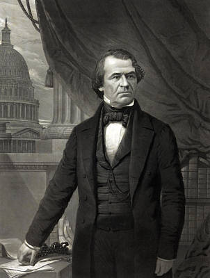 Andrew Johnson - President Of The United States Of America Art Print by International  Images