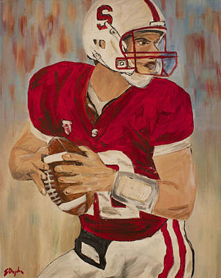 Painting - Andrew Luck by Steven Dopka