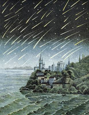 Andromedid Meteor Shower Art Print by Science, Industry & Business Librarynew York Public Library