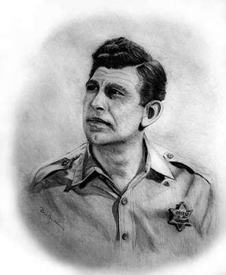 Mayberry Drawing - Andy by Bev Newcomer