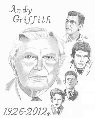 Andy Griffith Art Print by Gail Schmiedlin