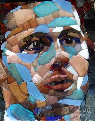 Mitch Brookman Glass Art - Andy Roddick by Mitch Brookman