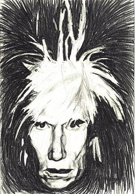 Drawing - Andy Warhol by Michael Morgan
