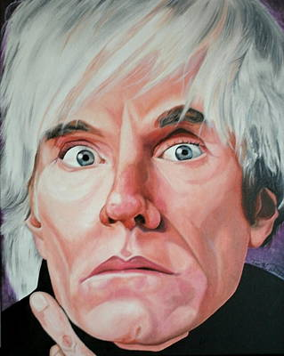 Portraits By Timothe Painting - Andy Warhol by Timothe Winstead