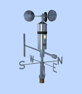 Anemometer And Wind Vane Print by Paul Rapson