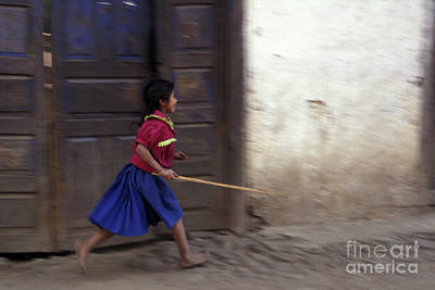 Latin America Photograph - Angahuan Girl Michoacan Mexico by John  Mitchell