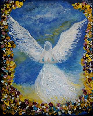 Painting - Angel Among Us by Leslie Allen