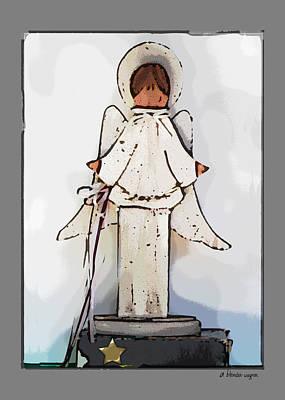 Angel Digital Art - Angel by Arline Wagner