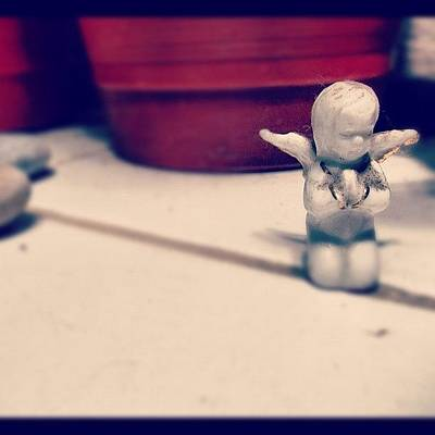 Pop Art Photograph - #angel #art #andreego #garden #stone by Andree Olazaran