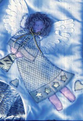 Angel Blue Art Print by Anne-Elizabeth Whiteway