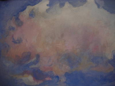 Painting - angel clouds I by Diane montana Jansson