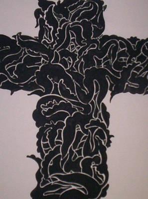 Angel Cross  Art Print by Lee Thompson
