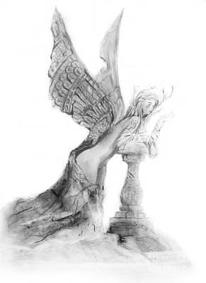Hada Drawing - Angel Encantado by Guillermo Padilla