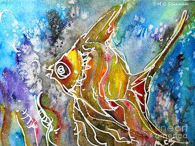Angel Fish Art Print by M C Sturman