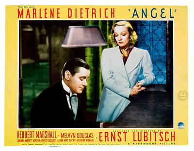 Angel, From Left Marlene Dietrich Art Print by Everett